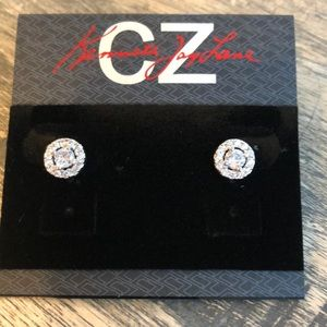 Cubic Zirconia Stud Earrings by Kenneth Jay Lane